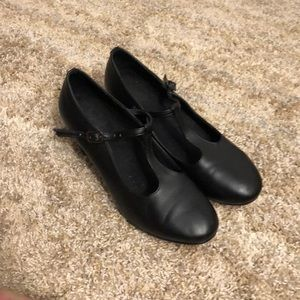 Black T-strap Character Shoes